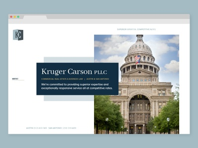Law Web Design white space lawyer capitol layers shapes clean austin law firm