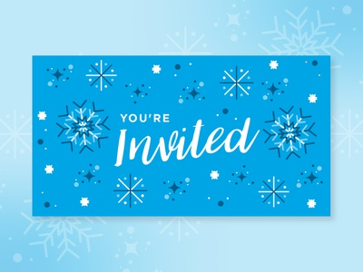 Holiday Email Banner holiday card ice email banner invitation winter party blue winter snowflake holiday