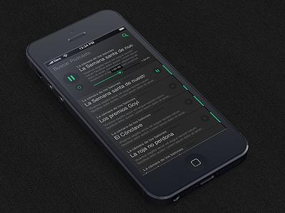 Podcasts App (WIP) ios app iphone podcast flat dark ui clean