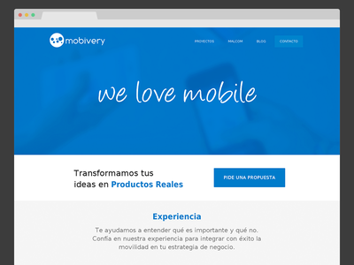 Mobivery 2.0 web mobivery client webdesign blue