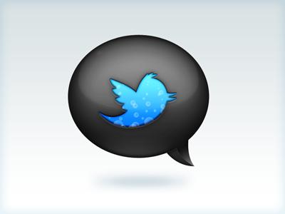 Dark side of Twitter twitter icon thousand tweets dark