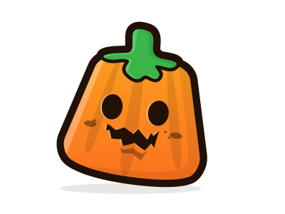 Candy illustration halloween candy orange