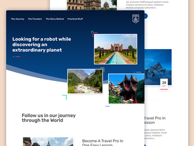 Travel Blog – v2 robot website landing blog