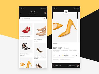 C+B Remake shop ecommerce detail ios app fashion