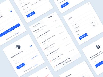 Modal views notifications alert modal app design dashboard clean web interface blue ui