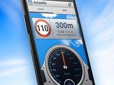Avisme Android app android avisame speedcam warning velocimeter blue
