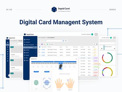 Digital Card Management System digital card technology uiux fingerprint wireframing face scan design web design finger print security dashboard ux ui