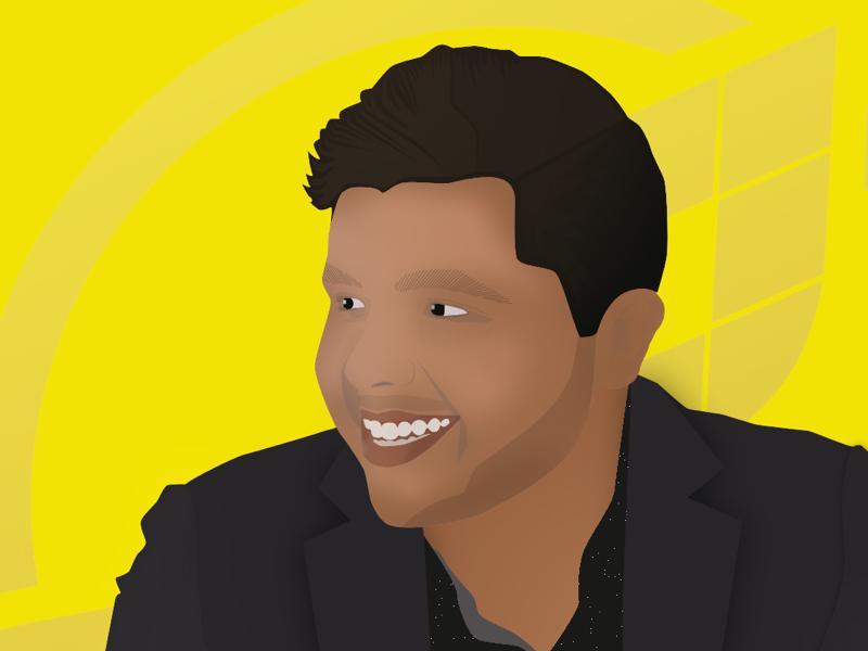 Professional Headshot man illustration corporate professional business headshot