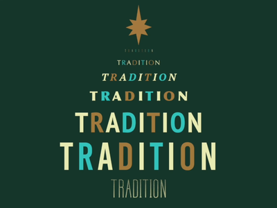 Tradition typeography typeface type holidays motion design design advent animation christmas illustration