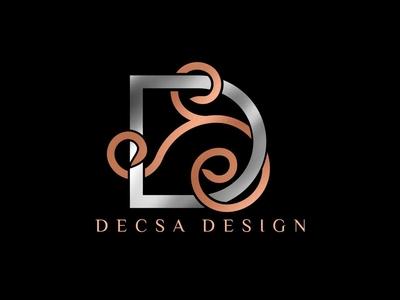 "D"" decsa monogram logo"