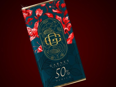 garnet chocolate packaging design