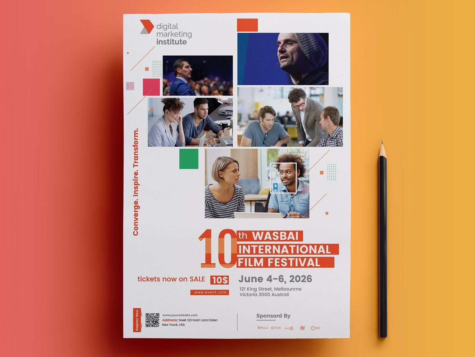 event flyer template conference flyer psd template by masud parvej