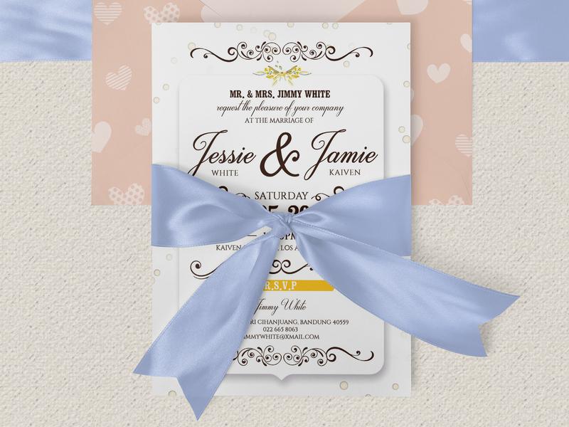 Floral Wedding Invitation Flyer Template By Masud Parvej Dribbble
