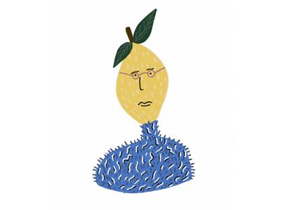Lemon guy illustration