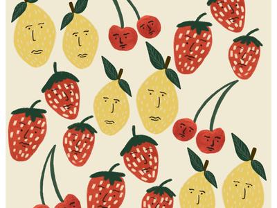 Pattern of fruits. illustration