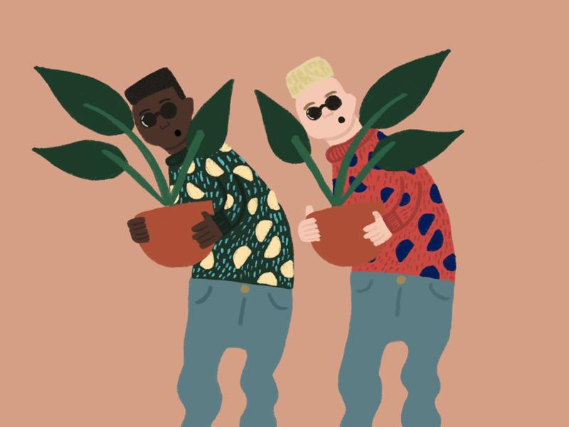 Plant boys plants boys illustration