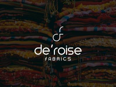 Brand identity design for De'roise fabrics.