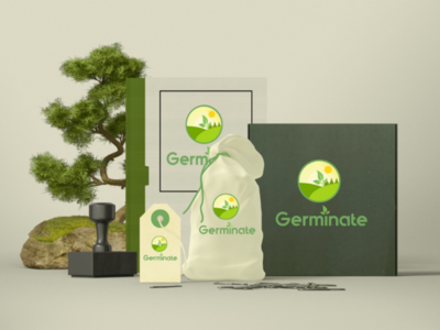 Brand identity design for Germinate, an agrobased company.