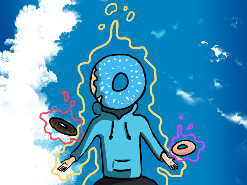 Psychic Donuts psychic powers donuts digital art illustration