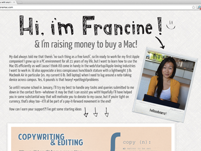First Ever Website. website personal crowdfunding html css jquery javascript