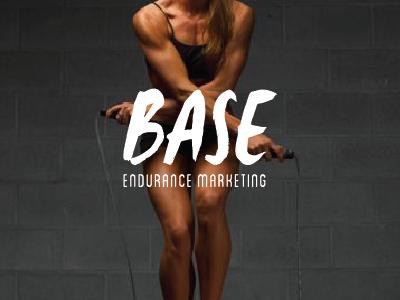 BASE logo hand lettered fitness