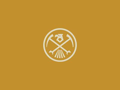 Iron Pyrite Logo luxury gold gem mining eagle gold rush vintage retro retail fashion iron pyrite icon branding minimal design illustration vector