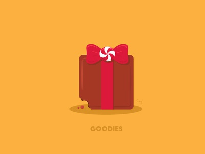 Holidays - Goodies visual pun candy goodies present chocolate series vector illustration christmas holidays