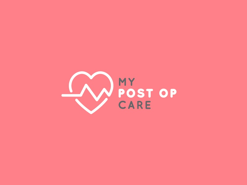 My PostOp Care (alt proposed logo) post op care health logo branding cross plus medical startup