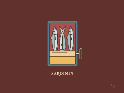 Spanish Sardines can food fish sardines santander adventure minimal espana spain travel vector illustration