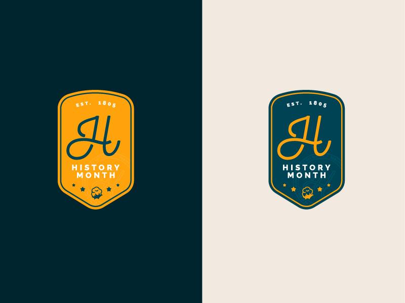 Huntsville History Month (unused design) alabama huntsville badge design cotton badge branding icon logo travel minimal illustration vector