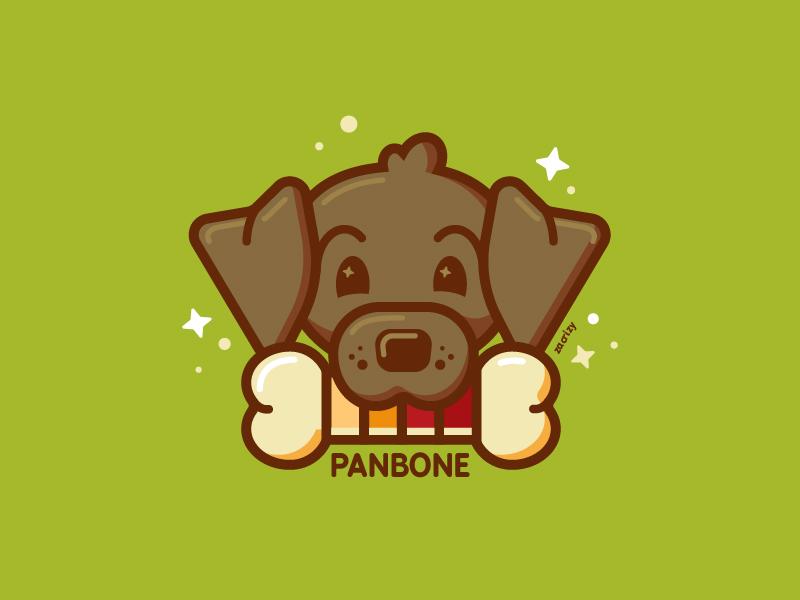 Panbone office dog pet freelance stars swatches agency office dog panbone pantone pun happy design minimal cute illustration vector