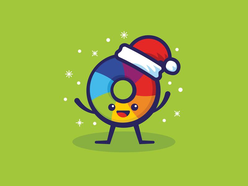 Altmetric - Christmas happy holidays flakes snow holidays christmas mascot characterdesign happy branding design minimal cute illustration vector