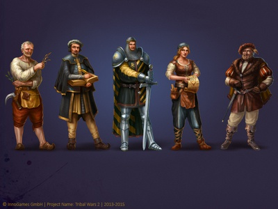Tribal Wars 2 Characters