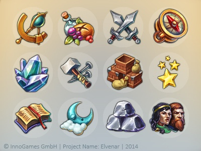 Game Icons rpg mobile fantasy icon game