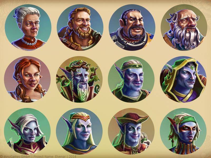 Game Avatars elves avatar portrait elvenar rpg fantasy game