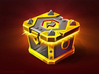 Battle Loot Chest battle premium gold box chest game loot