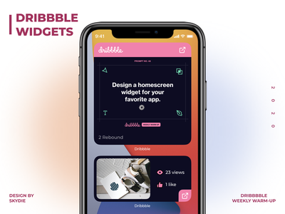 Weekly Warm-Up | Dribble widgets app typography ux ui computer art dribble dribbble best shot design dribble shot dribbble