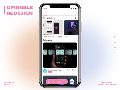 Dribbble App Redesign web app typography design redesign ux ui dribbble best shot dribble dribble shot dribbble