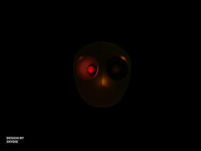 Discharge face robot blender 3dart illustration graphic design 3d