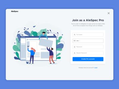 AleSpec Registration