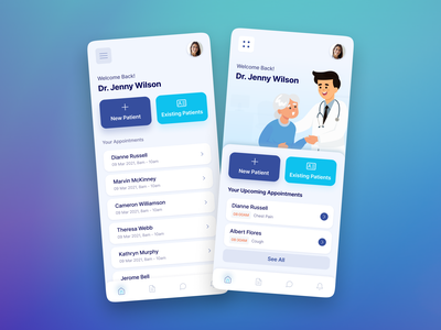 Doctor Appointments App health care medical app mobile ui health health app medicine hospital clinic doctor appointment doctor typography design ios android app design ux ui uiux clean app