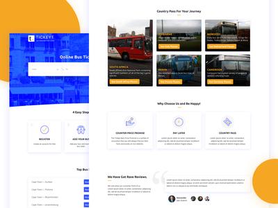 Online Ticket Booking Website Design