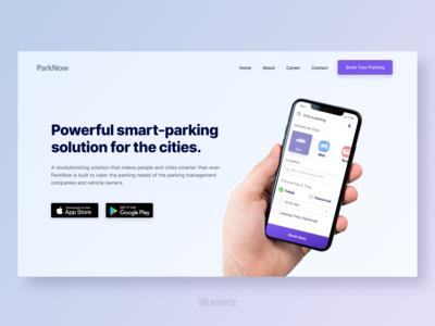 Parking App Landing Page