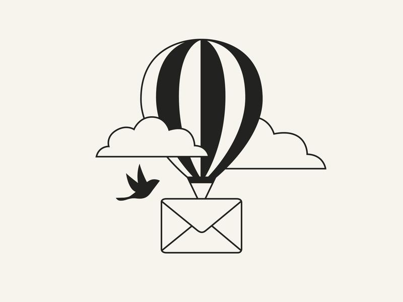 Send Message Illustration icon website illustration app illustration baloon message send message minimalism illustration adobe illustrator minimal vector ui design
