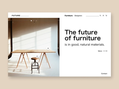 Landing Page of a Furniture Shop, Interior Design minimalism designer interiors interiordesign ux design furniture store ecommerce shop furniture uxdesign ux ui minimal design