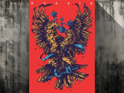 Herbariy / Russia illustration ivan belikov further up herbariy russia coat of arms graphic golden eagle