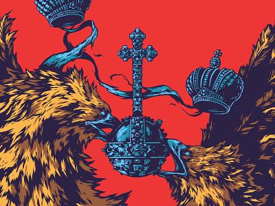 Herbariy / Russia further up illustration ivan belikov fragment graphic herbariy russia golden eagle