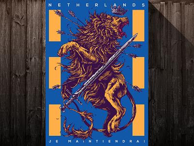 Herbariy / Netherlands illustration further up ivan belikov graphic herbariy netherlands lion poster