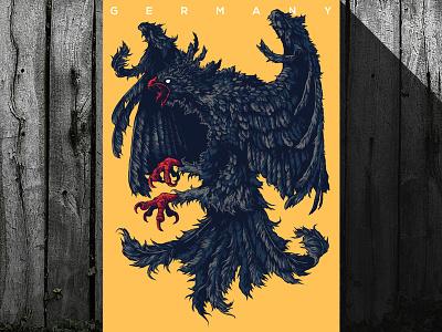 Herbariy / Germany illustration ivan belikov further up herbariy germany coat of arms graphic eagle feathers