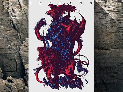 Herbariy / Iceland illustration ivan belikov further up graphic herbariy bird dragon bull giant iceland